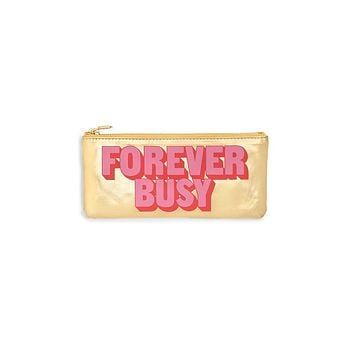 ban.do get it together pencil pouch - forever busy gold