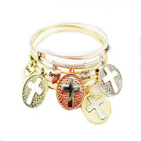 New Arrival Jewelry Stylish Shiny Cross Rack Pendant Hot Sale Accessory Vintage Alloy Bangle [8573751181]