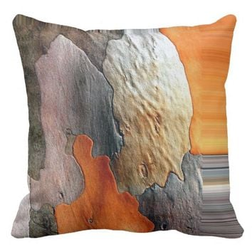 African Abstract Style Painting Throw Pillow