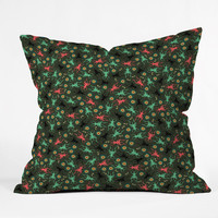 Raven Jumpo Lots O Crickets Throw Pillow