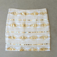 .Golden Marquis Sequin Skirt [5896] - $36.00 : Feminine, Bohemian, & Vintage Inspired Clothing at Affordable Prices, deloom