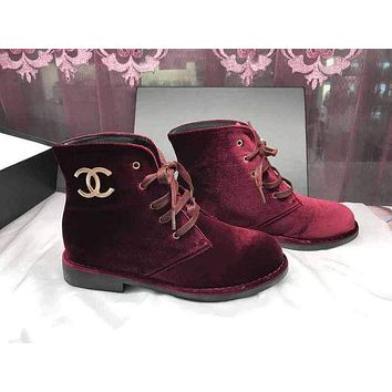 Chanel Women's Winter Suede Boots I-AGG-CZDL