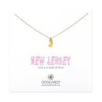 new jersey necklace, gold dipped - Dogeared