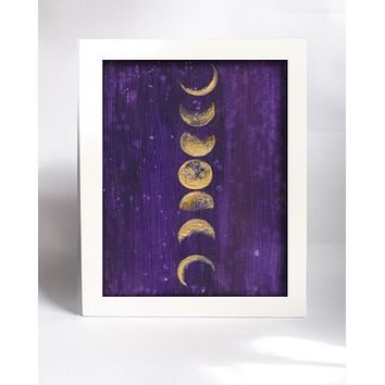 Framed Mini Print - Moon Phases - Ready to Hang