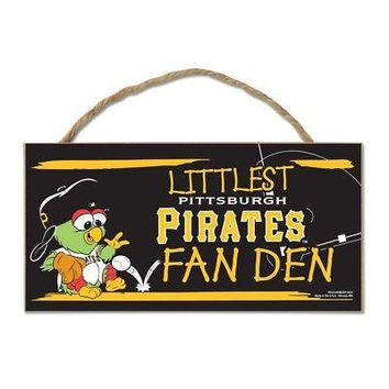 "Licensed Pittsburgh Pirates Official MLB 5"" x 10"" Sign Pitt by Wincraft KO_19_1"