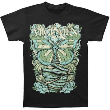 Of Mice & Men Men's  Butterfly T-shirt Black Rockabilia