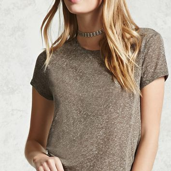 Heathered Crew Neck Tee