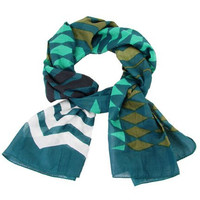 Chevron and Diamond Print Scarf