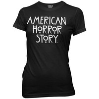 American Horror Story Logo Black Juniors T-Shirt - Ripple Junction - American Horror Story - T-Shirts at Entertainment Earth