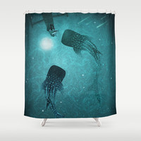 The Serenade Shower Curtain by dEMOnyo | Society6