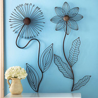 Metal Flower Wall Sculptures