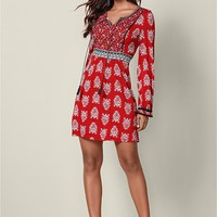 Boho Dress in Red Multi | VENUS