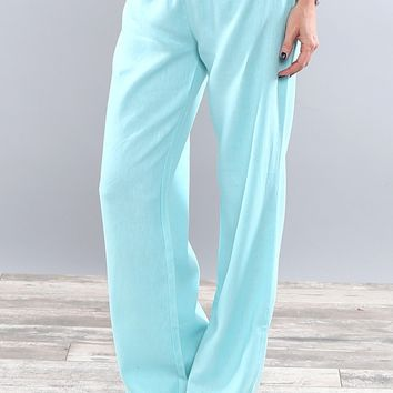 Best Selling Fold Over Linen Pants