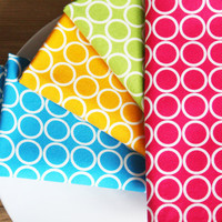 Napkins  4 fun colors with White Circles  by toocutecustomcrafts