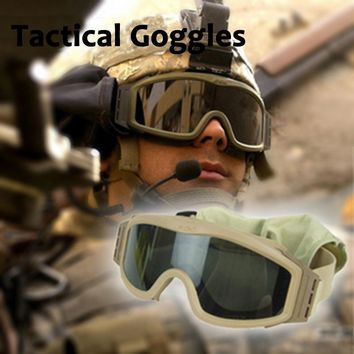 Military Airsoft Wargame Goggles Tactical Glasses Combat Army Shooting Safety Glasses 3 Lens Motorcycle Windproof Eyewear