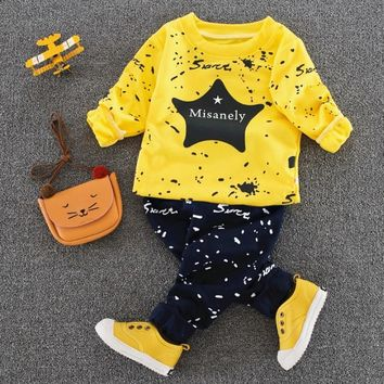 Spring Autumn New Baby Boys Girls Sport Suit 2017 Children Boys Clothing Set Toddler Casual Kids Clothes Tracksuit Set 1-4Y
