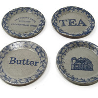 Vintage Pottery Coasters - Beaumont Brothers Pottery - BBP Lot Of Salt Glazed Coasters