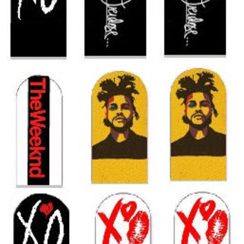 The Weeknd Nail Decals
