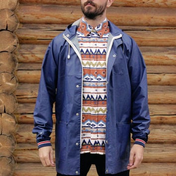 Aztec Flannel Shirt / Soft Earthy South American Print Vintage Collared Shirt / Long Sleeve Men's Fitted Fleece Winter Shirt