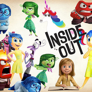 39 Inside Out Clipart PNG Digital Graphic Image Joy Clip Art sadness disney fear Scrapbooking Invitations INSTANT DOWNLOAD printable 300 dpi