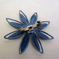 Blue Flower Brooch 1960s Vintage Jewelry ETSY SALE