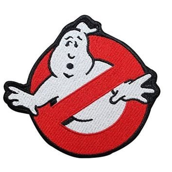 Ghostbusters No Ghost Movie Comics Logo Kid Baby Jacket T shirt Patch Iron on Embroidered Symbol Badge Cloth Sign Costume