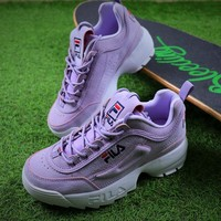 Best Online Sale FILA Disruptor II 2 Purple Sport Running Shoes Sneaker FW0165-029