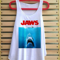 Jaws shirt tank top tshirt clothing vest tee tunic vintage singlet sleeveless - size S M L