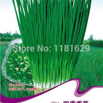 (Mix minimum order $5)1 original pack 100pcs Seed Small Onion Chive Seeds Chinese Herb Cuisine free shipping