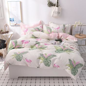 100%Cotton kids girls Bedding Set bed set Twin Queen King size Bed sheet/Fit sheet set  Duvet quilt cover set Pillowcase