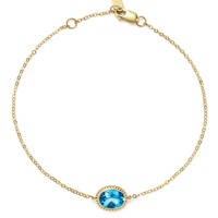 Blue Topaz Oval Bracelet in 14K Yellow Gold - 100% Exclusive | Bloomingdales's