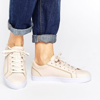Lacoste Straightset 1 Nude Leather Sneakers