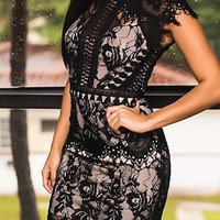 Capped Lace Dress