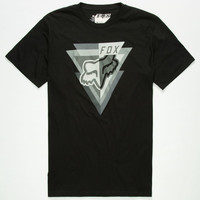 Fox Iver Mens T-Shirt Black  In Sizes