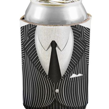 Pinstripe Gangster Jacket Printed Costume Can / Bottle Insulator Coolers All Over Print