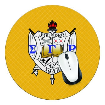 Sigma Gamma Rho Sorority Crest Mouse Pad, SGRho Mouse Pad