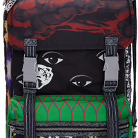 Nylon Multi Print Backpack