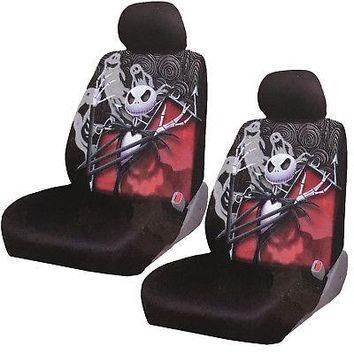 Licensed Official New Nightmare Before Christmas Jack Gostly Car Truck 2 Front Seat Covers Set