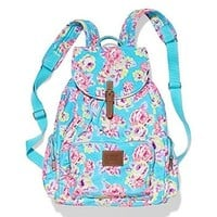 Victoria's Secret PINK Backpack School Bag Floral, Bonus VS Dog Decal/Sticker