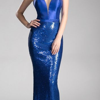 Strapless Long Prom Dress with Sweetheart Neckline Royal Blue