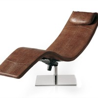 Leather lounge chair CASANOVA by Cattelan Italia