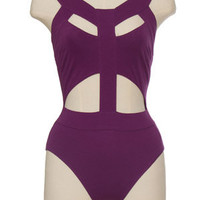 Caged Violet Bodysuit