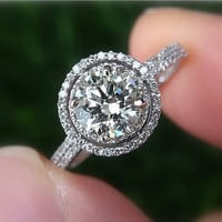 Diamond Engagement Ring Semi mount setting 14K by BeautifulPetra