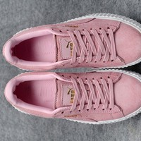 Fenty Rihanna Puma Creepers Uk Pink Women's Suede Shoes