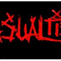Casualties- Red Logo cloth patch (cp903)