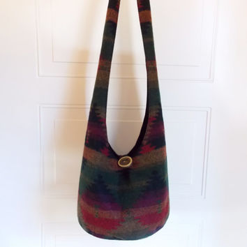Hobo Bag, Aztec, Sling Bag, Southwestern, Hippie Purse, Crossbody Bag
