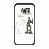 Hello I Baymax I Groot Samsung Galaxy S6 Edge Case