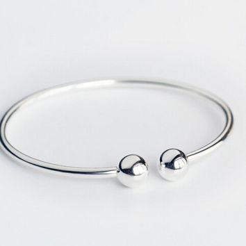 925 sterling silver simple ball bracelet ,personalized fashion cute ball bracelet,a perfect gift
