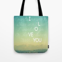 Adventures and I Love You Tote Bag by RichCaspian