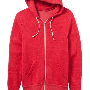 Red Zip Up Hoodie – Ily Couture
